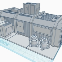 Small 28mm Cargo Container Home 3D Printing 272301