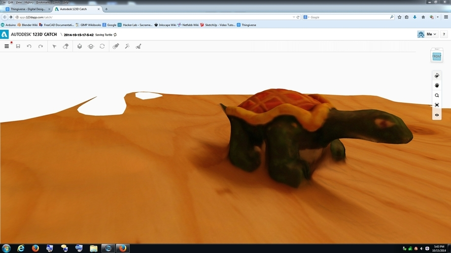 My 123D Catch Turtle Try 3D Print 27264