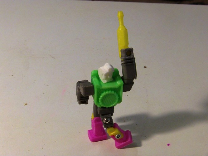 Reflector Action Master Style Figure 3D Print 27271