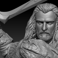 Small Thorin Oakenshield 3D Printing 272751