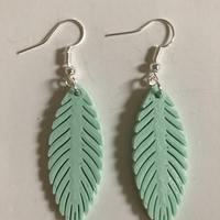 Small Feather earring 3D Printing 273005