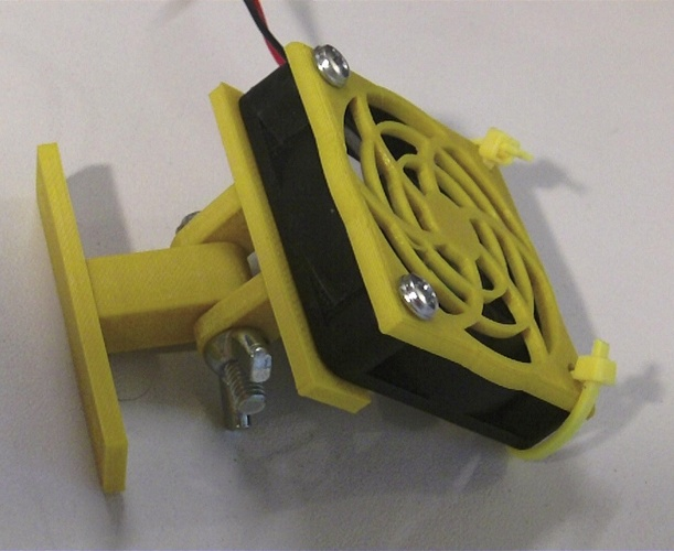50 mm Fan Adjustable Mount 3D Print 27318