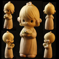 Small Adorable Lil Girl with Flowers 3D Printing 27333