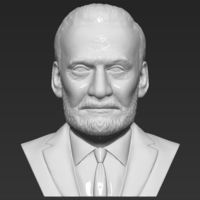 Small Buzz Aldrin bust 3D printing ready stl obj formats 3D Printing 273447