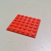 Small LEGO-like plate 6x6 48x48mm 3D Printing 27435