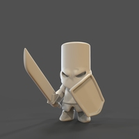 Small Castle Crashers Knight 3D Printing 27455