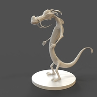 Small Mushu Low Poly 3D Printing 27457