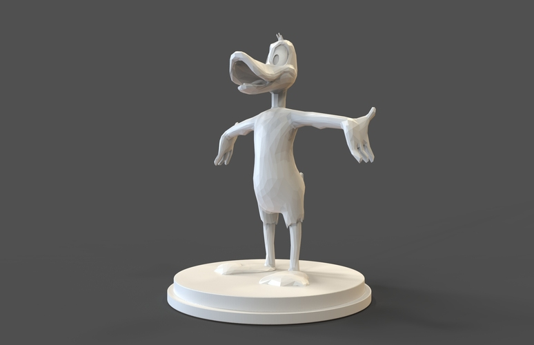 Daffy Duck low poly 3D Print 27462