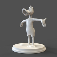 Small Daffy Duck low poly 3D Printing 27462