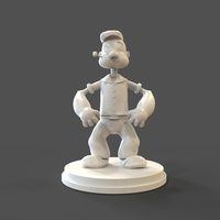 Small Popeye Low Poly 3D Printing 27463