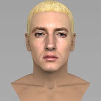 Small Eminem bust ready for full color 3D printing 3D Printing 274658