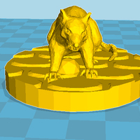 Small Rat Toy 3D Printing 27491