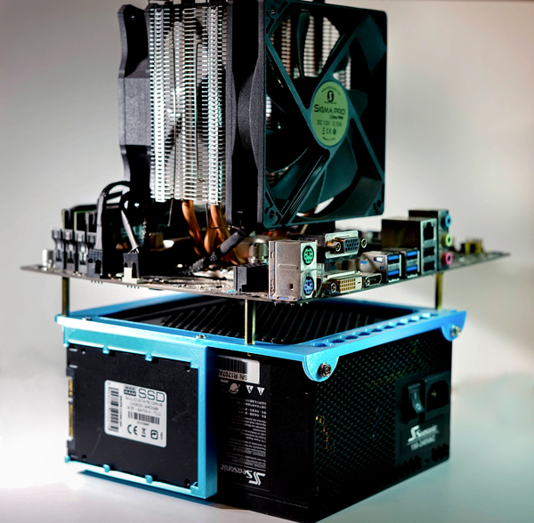 Medium Mini ITX Open Frame with SSD Support 3D Printing 275131