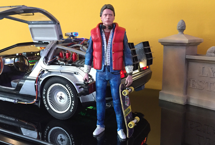 Marty McFly HQ 3Dprint 1-8 Scale 3D print model 3D Print 275161