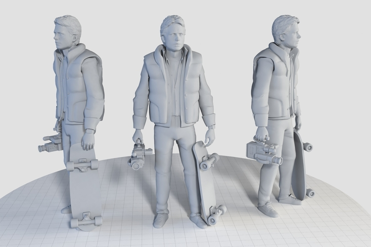 Marty McFly HQ 3Dprint 1-8 Scale 3D print model 3D Print 275166