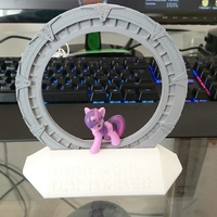 Small Stargate and Stand 3D Printing 27525