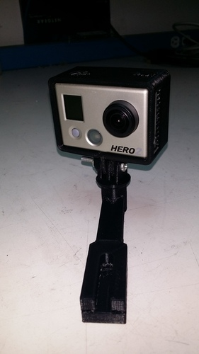 Da Vinci GoPro Camera mount - Hero 2 Version Frame 3D Print 27540