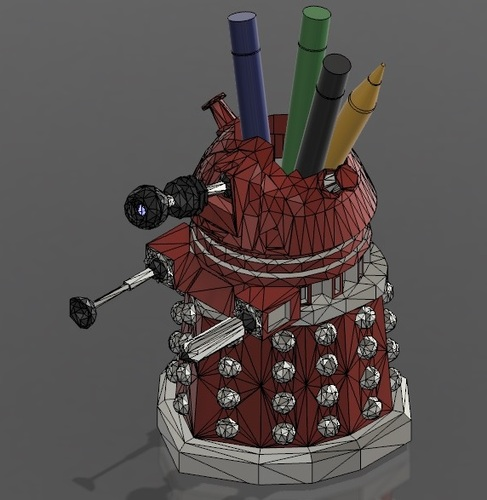 DALEK PEN HOLDER (FROM DOCTOR WHO) 3D Print 27545