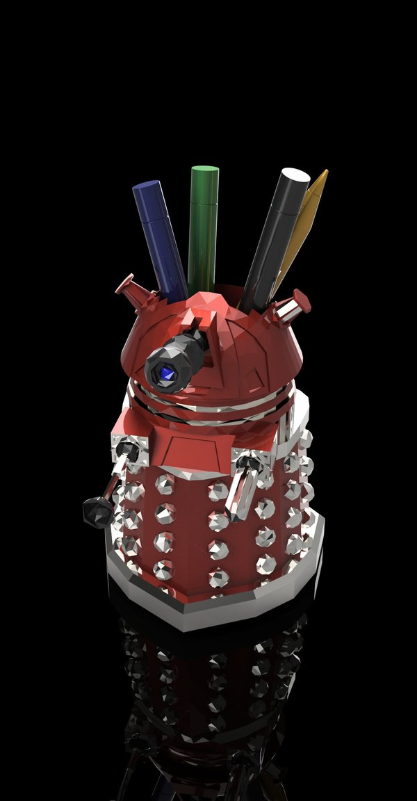 Medium DALEK PEN HOLDER (FROM DOCTOR WHO) 3D Printing 27547
