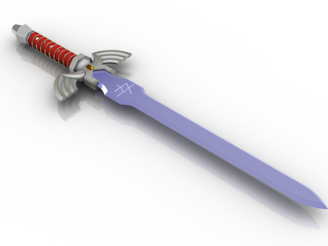 Life Size Legend of Zelda Master Sword 3D Print 27561