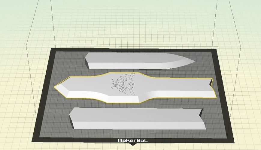 Life Size Legend of Zelda Master Sword 3D Print 27565