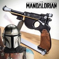 Small THE MANDALORIAN / DELUXE BLASTER 3D MODEL KIT W DISPLAY BASE 3D Printing 275706