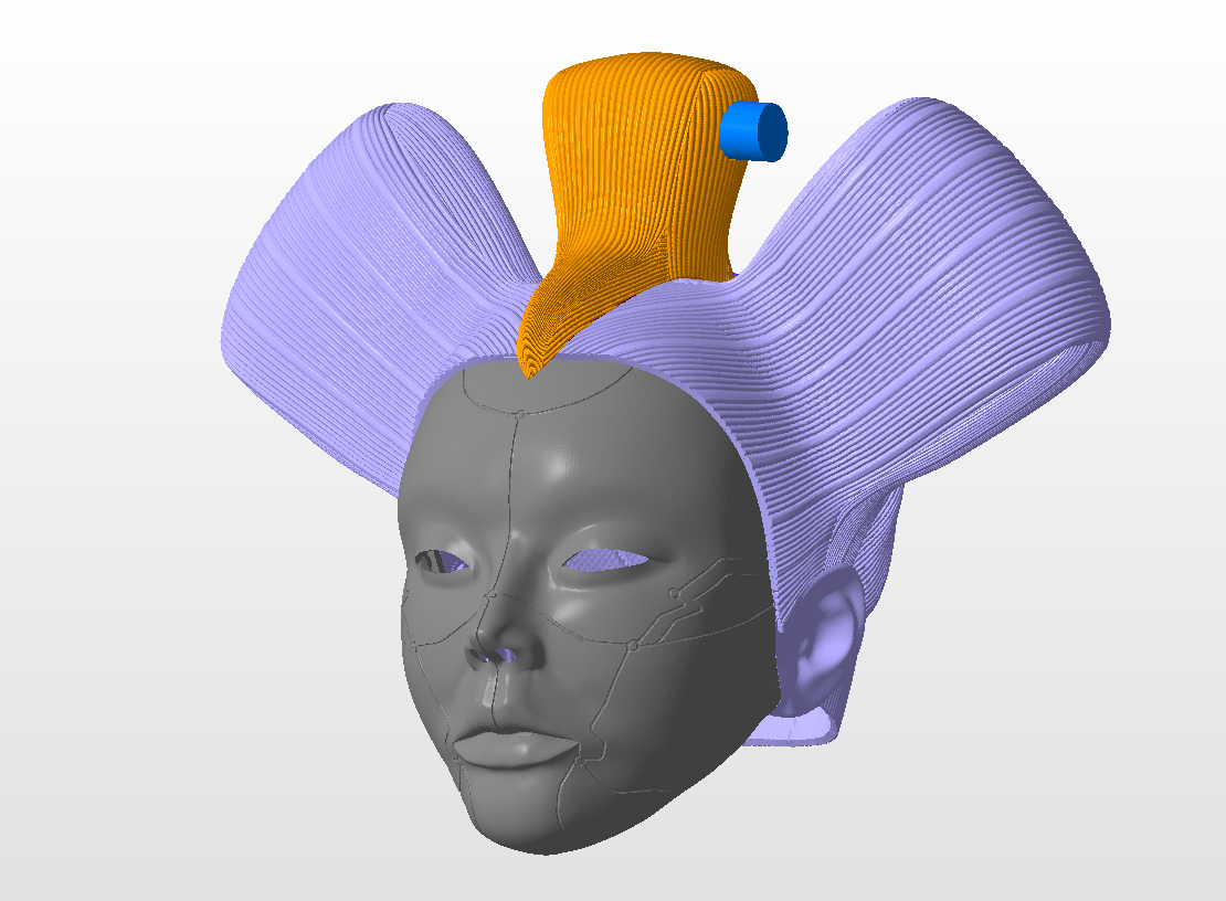 3d Printed Animatronic Geisha Head From Ghost In The Shell For 3d Printing By Necrosster Pinshape