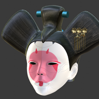 Small Animatronic Geisha head from Ghost in the Shell for 3D-printing 3D Printing 275767
