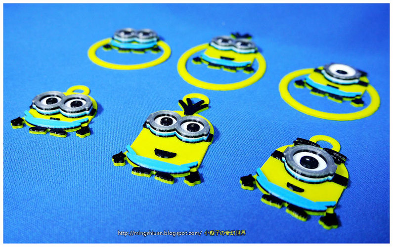 Minions Keychain / Paper Clip / Bag Clip / Money Clip / Bookmark 3D Print 27584