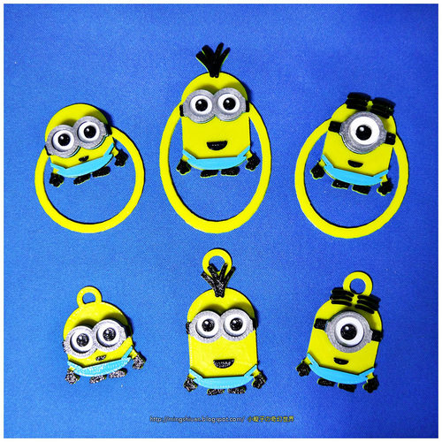 Minions Keychain / Paper Clip / Bag Clip / Money Clip / Bookmark 3D Print 27585