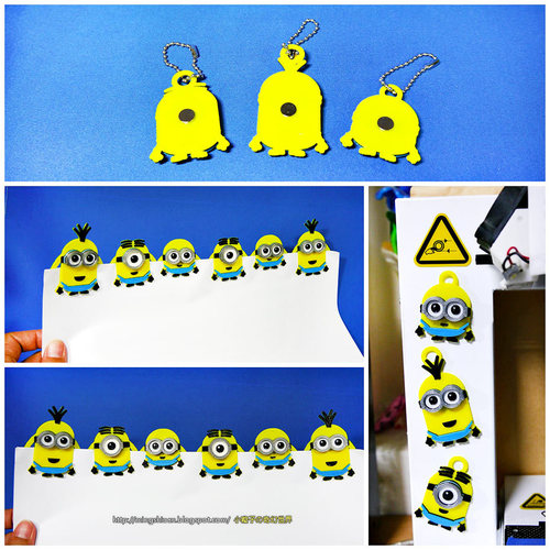 Minions Keychain / Paper Clip / Bag Clip / Money Clip / Bookmark 3D Print 27587