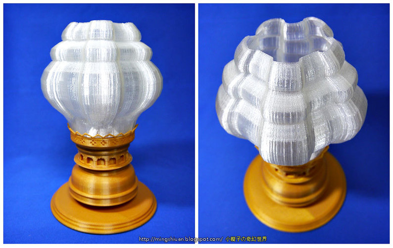 Victorian Hurricane Lamp-Lampshade Modify 3D Print 27595