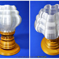 Small Victorian Hurricane Lamp-Lampshade Modify 3D Printing 27595