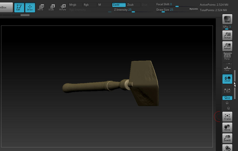 Old Steampunk Shovel 3D Print 276086