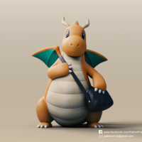 Small Dragonite(Pokemon) 3D Printing 276100