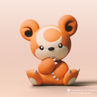 Small Teddiursa(Pokemon) 3D Printing 276101