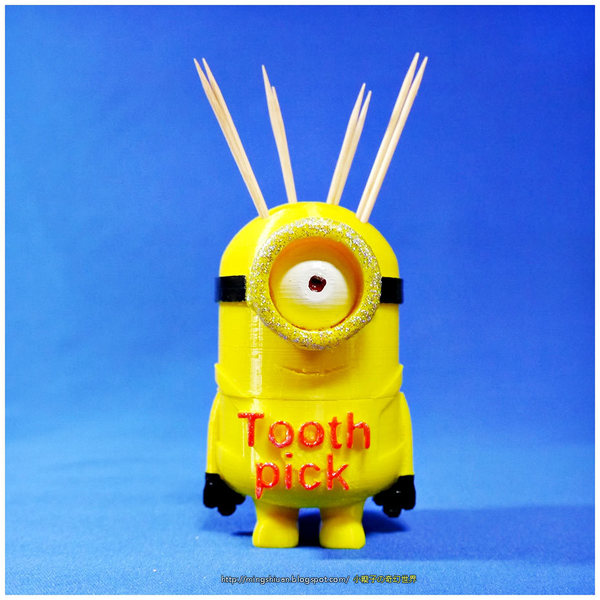 Medium Minion Toothpick 3D Printing 27619