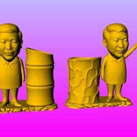 Small Chairman Xi pen holder 2 3D Printing 276220