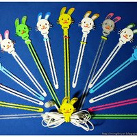 Small Bunny Cable Holder / Bookmarks / Keychain / Bracelet 3D Printing 27623