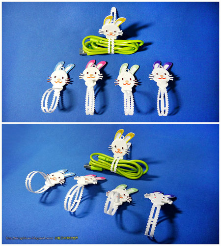 Bunny Cable Holder / Bookmarks / Keychain / Bracelet 3D Print 27627