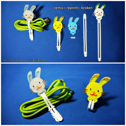 Bunny Cable Holder / Bookmarks / Keychain / Bracelet 3D Print 27629