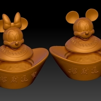 Small Mickey Minnie China New Year Candy Jar 3D Printing 276310
