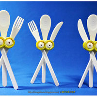 Small Minions eyes-Cutlery set 3D Printing 27632