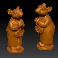 Small Lucky Rat Chinese year Congratulations to Fortune Decoration 6 3D Printing 276327