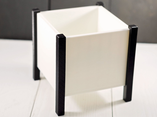 Modern Square Planter Box 3D Print 276353