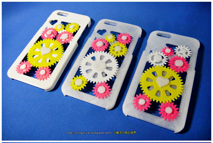 iPhone 6 & iPhone 6 Plus Gear Case 3D Print 27640