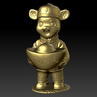 Small Money Rat Chinese Year - a lot of financial resources 3D Printing 276570