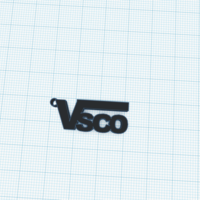 Small Vsco keychain in vans style  3D Printing 276590
