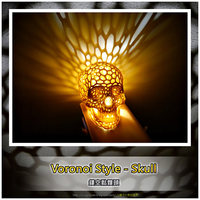 Small Skull lamps - Voronoi Style 3D Printing 27684