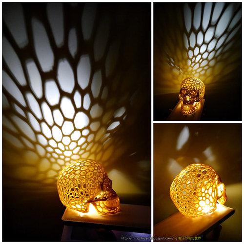 Skull lamps - Voronoi Style